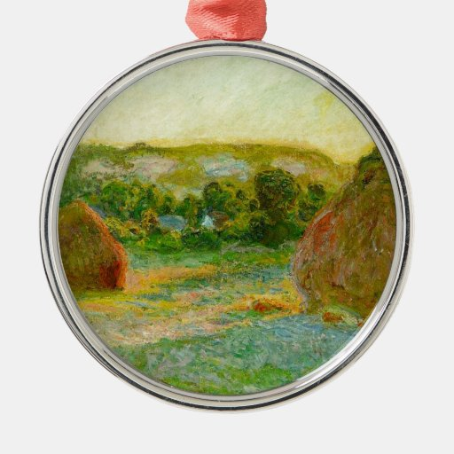 Haystacks de Claude Monet // Ornamento De Navidad