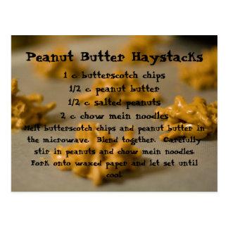 Haystacks de la mantequilla de cacahuete postal