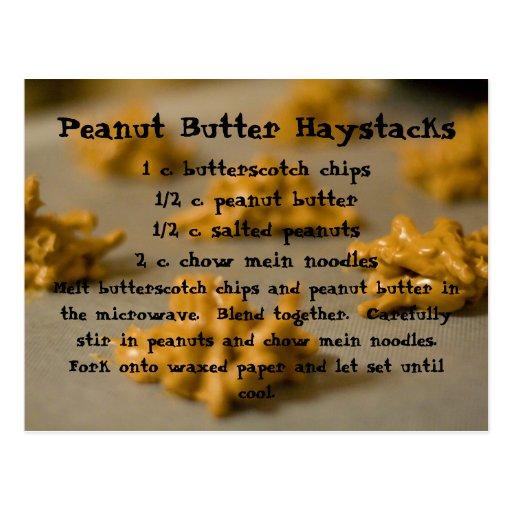 Haystacks de la mantequilla de cacahuete postales