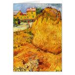 Haystacks de Van Gogh en Provence, arte de la Tarjeta De Felicitación