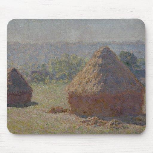 Haystacks en el final del verano - Claude Monet Tapete De Ratón