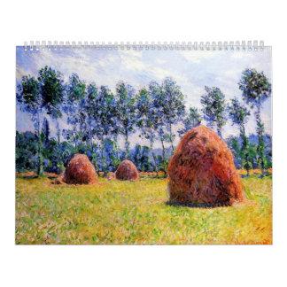 Haystacks en Giverny - Claude Monet Calendarios De Pared