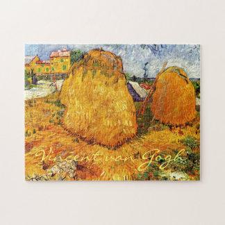 Haystacks en Provence de Van Gogh. Rompecabeza Con Fotos