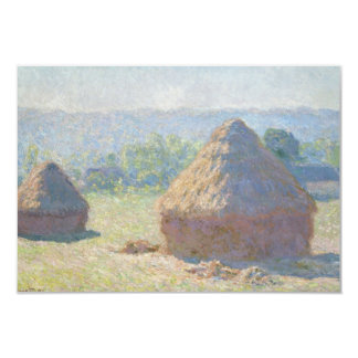 Haystacks, End of Summer by Claude Monet Card