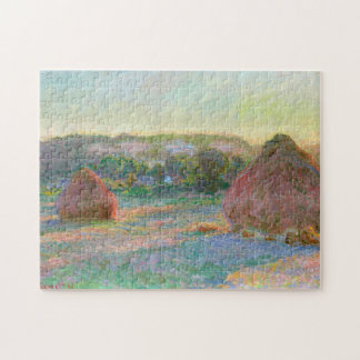 Haystacks End of Summer Monet Fine Art Jigsaw Puzzle