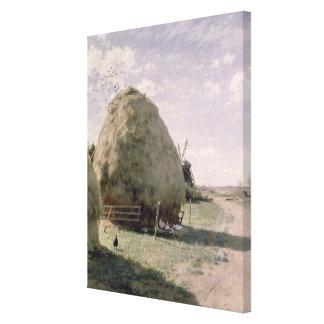 Haystacks Impresiones En Lona Estiradas
