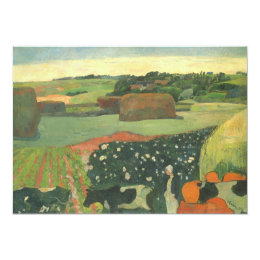 Haystacks in Brittany by Paul Gauguin, Vintage Art Card