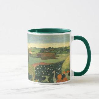 Haystacks in Brittany by Paul Gauguin, Vintage Art Mug