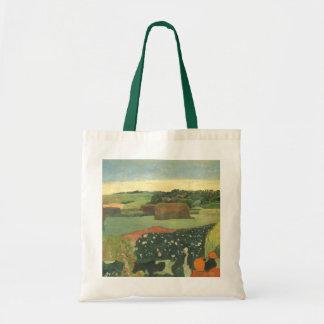 Haystacks in Brittany by Paul Gauguin, Vintage Art Tote Bag