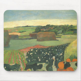 Haystacks in Brittany, Potato Field; Paul Gauguin Mouse Pad