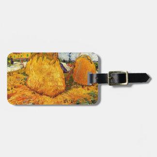 Haystacks in Provence by Van Gogh. Bag Tag