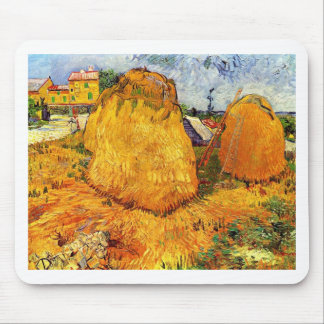Haystacks in Provence by Van Gogh. Mouse Pad
