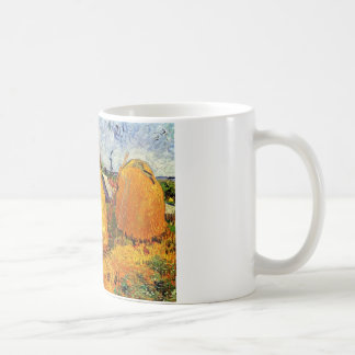 Haystacks in Provence by Van Gogh. Classic White Coffee Mug