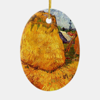 Haystacks in Provence by Van Gogh Christmas Ornament
