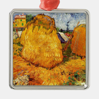 Haystacks in Provence by Van Gogh Christmas Ornaments