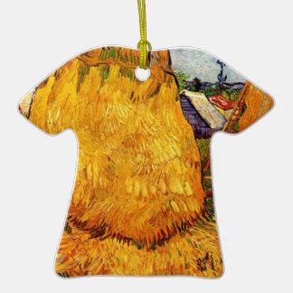 Haystacks in Provence by Van Gogh Christmas Tree Ornaments