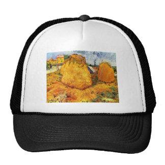 Haystacks in Provence by Van Gogh. Trucker Hat