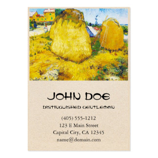 Haystacks in Provence by Vincent Van Gogh Large Business Cards (Pack Of 100)