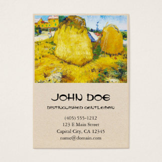 Haystacks in Provence by Vincent Van Gogh Business Card