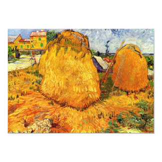 Haystacks in Provence by Vincent van Gogh Card