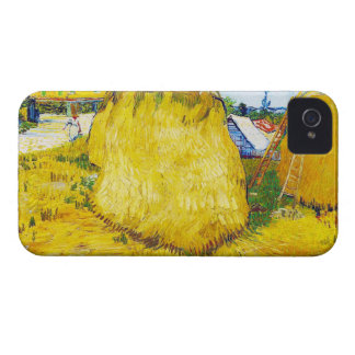 Haystacks in Provence by Vincent Van Gogh iPhone 4 Case-Mate Cases