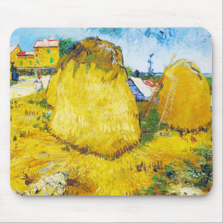 Haystacks in Provence by Vincent Van Gogh Mouse Pad