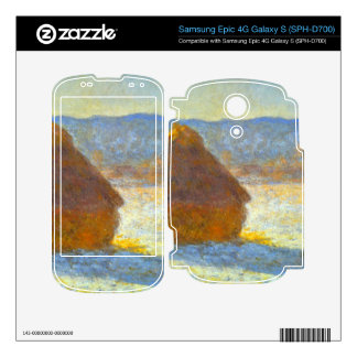 Haystacks in Snow by Claude Monet Samsung Epic Skin