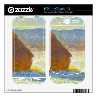 Haystacks in Snow by Claude Monet Decal For HTC myTouch 4G