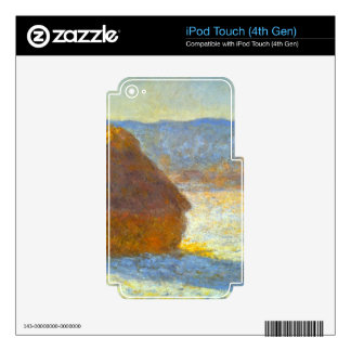 Haystacks in Snow by Claude Monet Decals For iPod Touch 4G