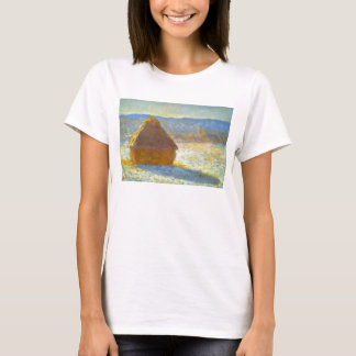 Haystacks in Snow by Claude Monet T-Shirt