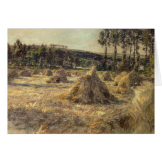 Haystacks in Sunset, 1906 Card
