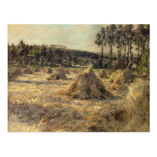 Haystacks in Sunset, 1906 Postcard