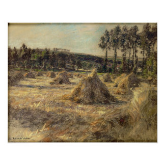 Haystacks in Sunset, 1906 Poster