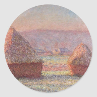 Haystacks- Monet Classic Round Sticker