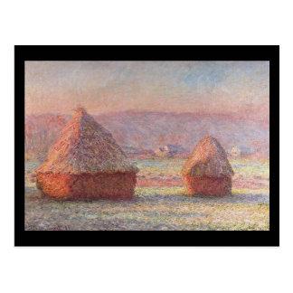 Haystacks- Monet Postcard