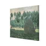 Haystacks near Giverny, c.1884-89 Stretched Canvas Prints