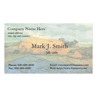 Haystacks under a Rainy Sky by Vincent van Gogh. Business Card
