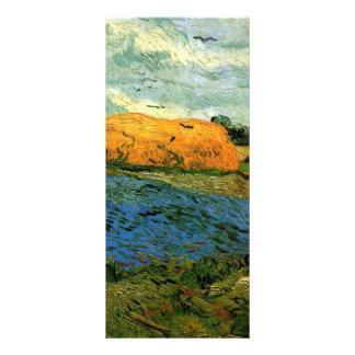 Haystacks under a Rainy Sky by Vincent van Gogh Rack Card