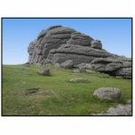 Haytor. Rocas en Devon Inglaterra. En blanco Escultura Fotográfica