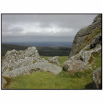 Haytor. Rocas en Devon Inglaterra. En blanco Esculturas Fotograficas