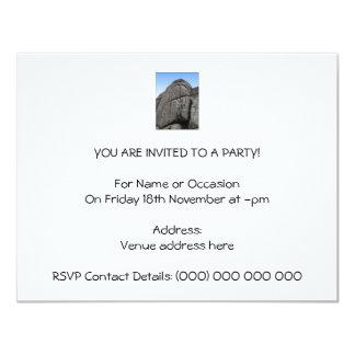 Haytor. Rocas en Devon Inglaterra. En blanco Invitación Personalizada