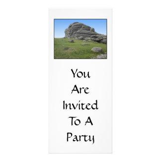 Haytor Rocas en Devon Inglaterra En blanco Comunicados Personalizados