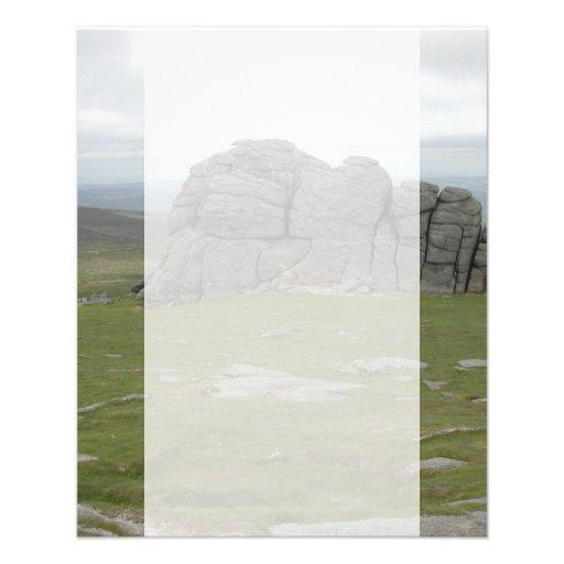 Haytor. Rocas en Devon Inglaterra Flyer A Todo Color
