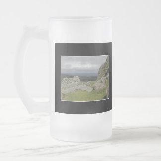 Haytor. Rocas en Devon Inglaterra Taza De Café