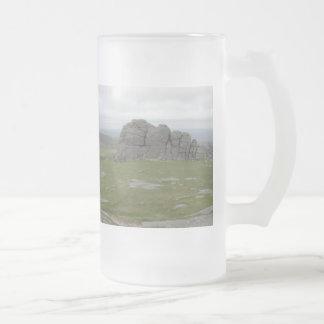 Haytor. Rocas en Devon Inglaterra Tazas