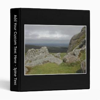 Haytor. Rocks in Devon England. Binder