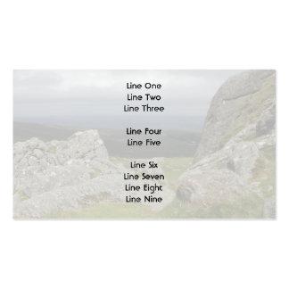 Haytor. Rocks in Devon England. Business Card Template