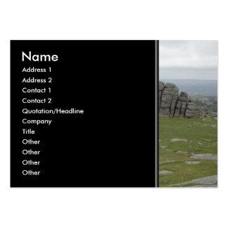 Haytor. Rocks in Devon England. Business Cards