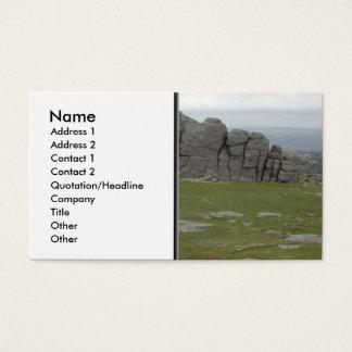 Haytor. Rocks in Devon England. Business Card