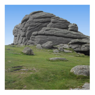 Haytor. Rocks in Devon England. Cutout